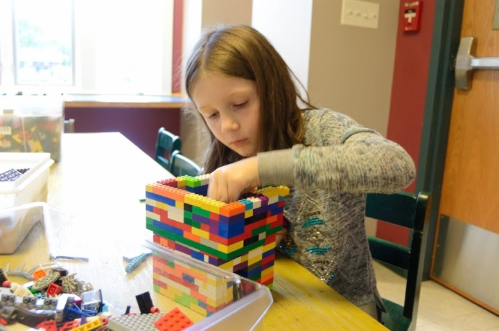 Lego Challenge Night at the Carver Library