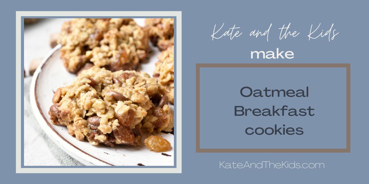 3 Ingredient Oatmeal Breakfast Cookies(Vegan)